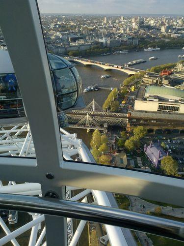 Vue sur la Tamise depuis le London Eye